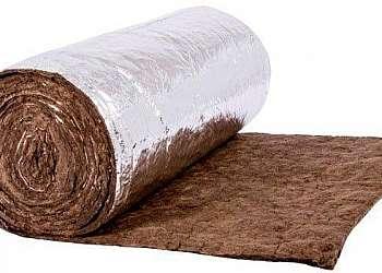 Lã de rocha aluminizada para isolamento